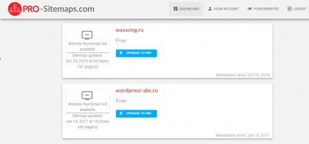 PRO Sitemap Service