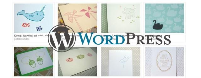 изменить размер и расположение миниатюры Wordpress