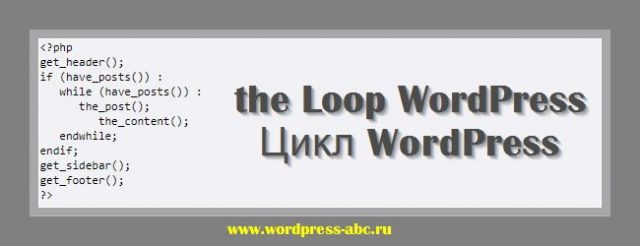 Цикл WordPress