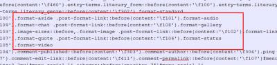 Пример CSS форматов записи