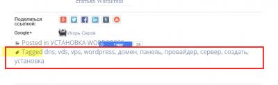 Метки WordPress