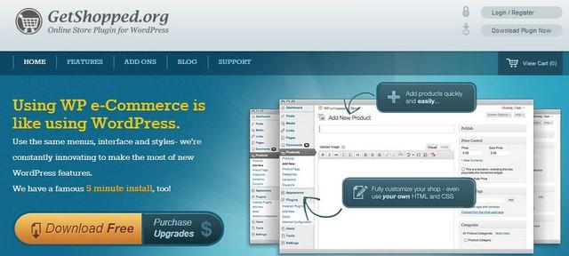 Интернет магазин WP eCommerce сайт