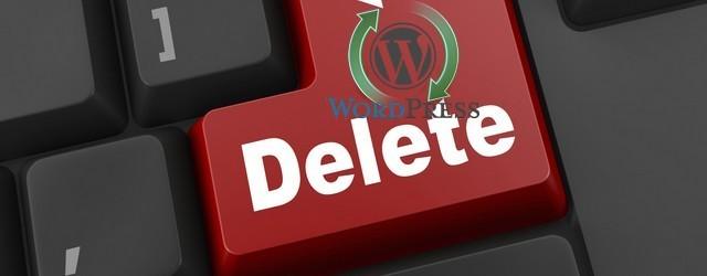 удалить Wordpress