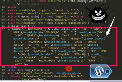 Чужой код в теме WordPress