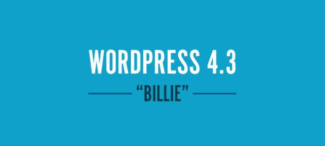 новая версия 4,3 WordPress