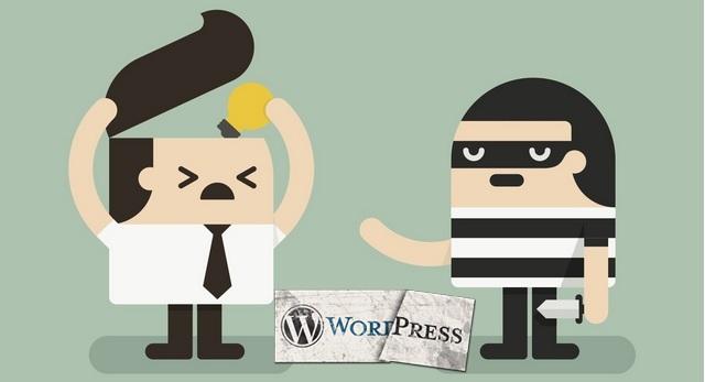 убирать ссылки автора темы WordPress