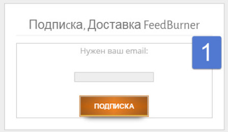 FeedBurner подписка WordPress