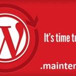 Простая ошибка обновления WordPress — Сайт ненадолго закрыт на техническое обслуживание. Зайдите через минуту