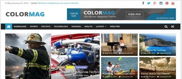 ColorMag журнальная тема WordPress