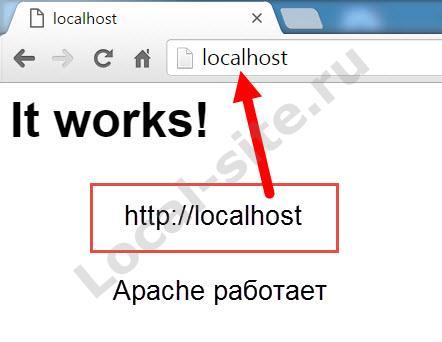 Apache работает