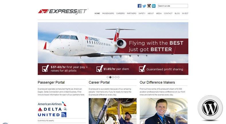 примеры сайтов на WordPress expressjet