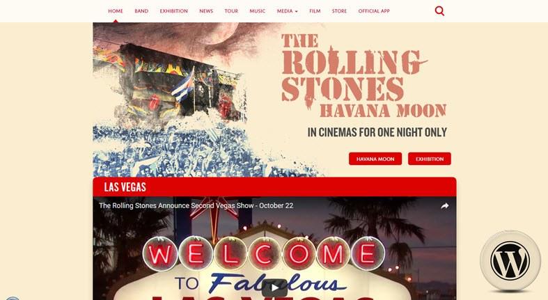 примеры сайтов на WordPress rollingstones
