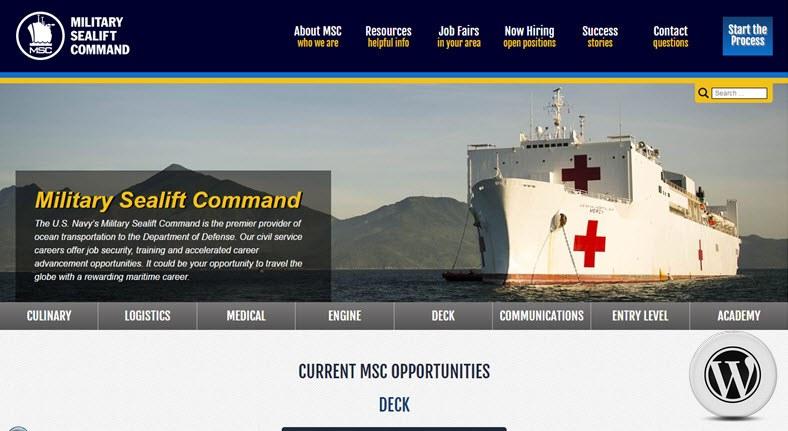 Примеры сайтов на WordPress - морские котики