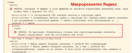 микроразметка Яндекс проверка
