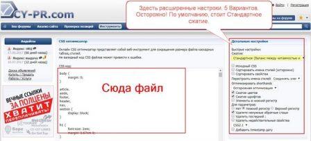 CSS оптимизатор cy-pr.ru
