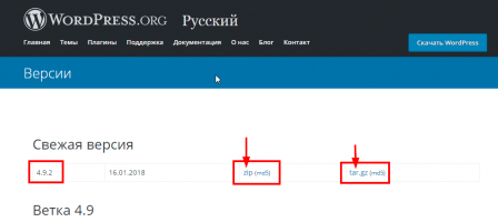 Русский WordPress архив релизов