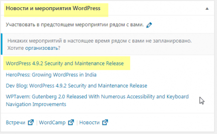 Новости WordPress