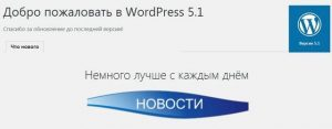 WordPress версия 5.1