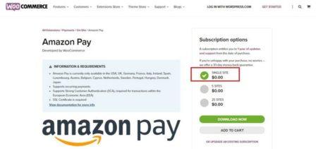 дополнить методы оплаты WooCommerce -Amazon Pay Gateway