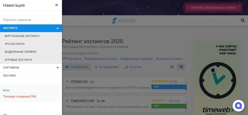сайтSiterost.net