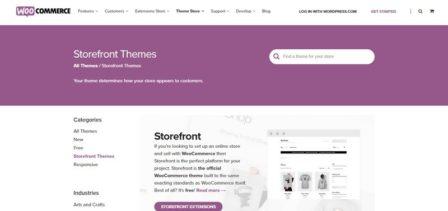Бесплатная тема Storefront