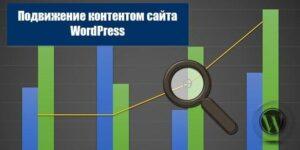 продвижение контентом сайта WordPress